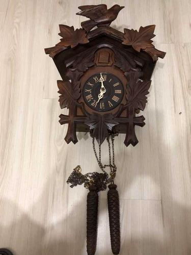 relógio cuco antigo, modelo 201, marca h, usado