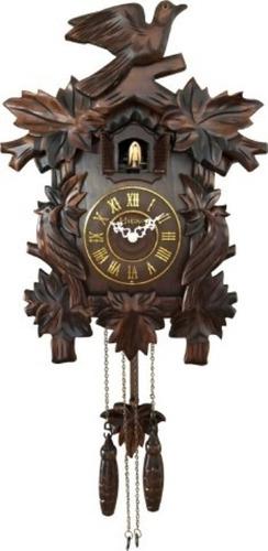 relógio cuco de parede a pilhas madeira quartz 530001 herweg
