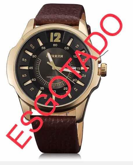 b7a9a315e14 Relógio Curren 8123 Pulseira De Couro Grande Promoção - R  40