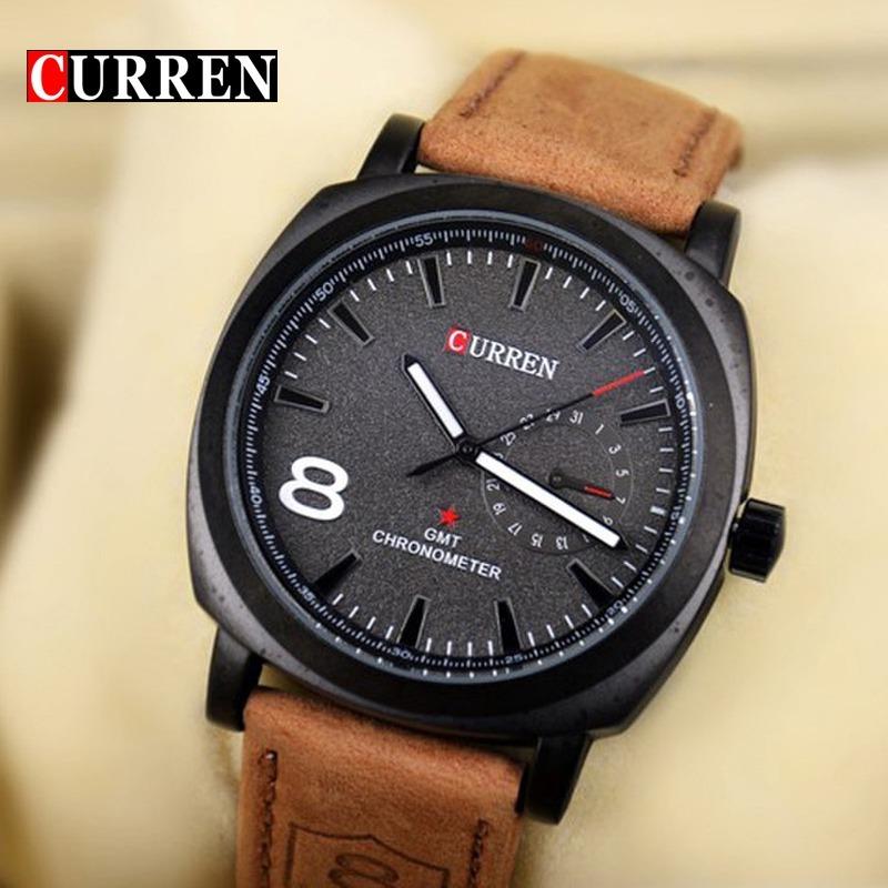 89587e7d8fc relógio curren 8139 masculino luxo esportivo original. Carregando zoom.