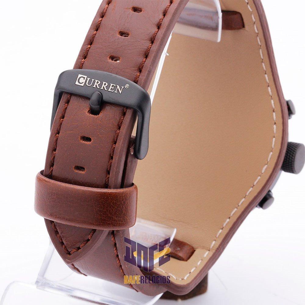4627d24b8a5 relógio curren 8225 couro original moda 2019 c  garantia. Carregando zoom.