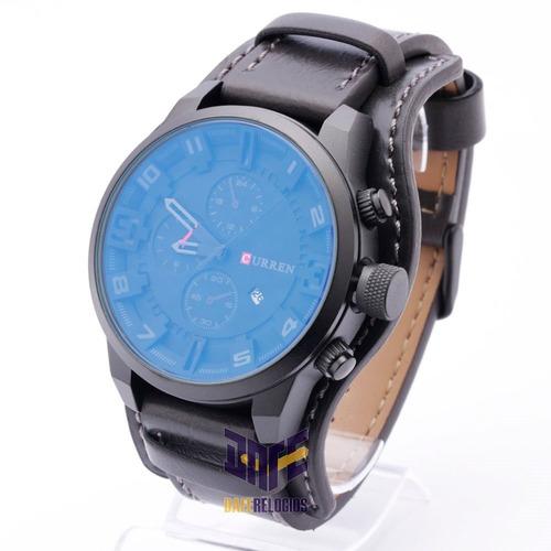 relógio curren 8225 couro original moda 2019 c/ garantia