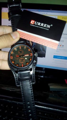 relógio curren 8225de luxo masculino todo preto promoção