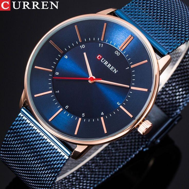 71d4051012b Relógio Curren 8303 Original Marca De Luxo Elegante Aço Inox - R  120