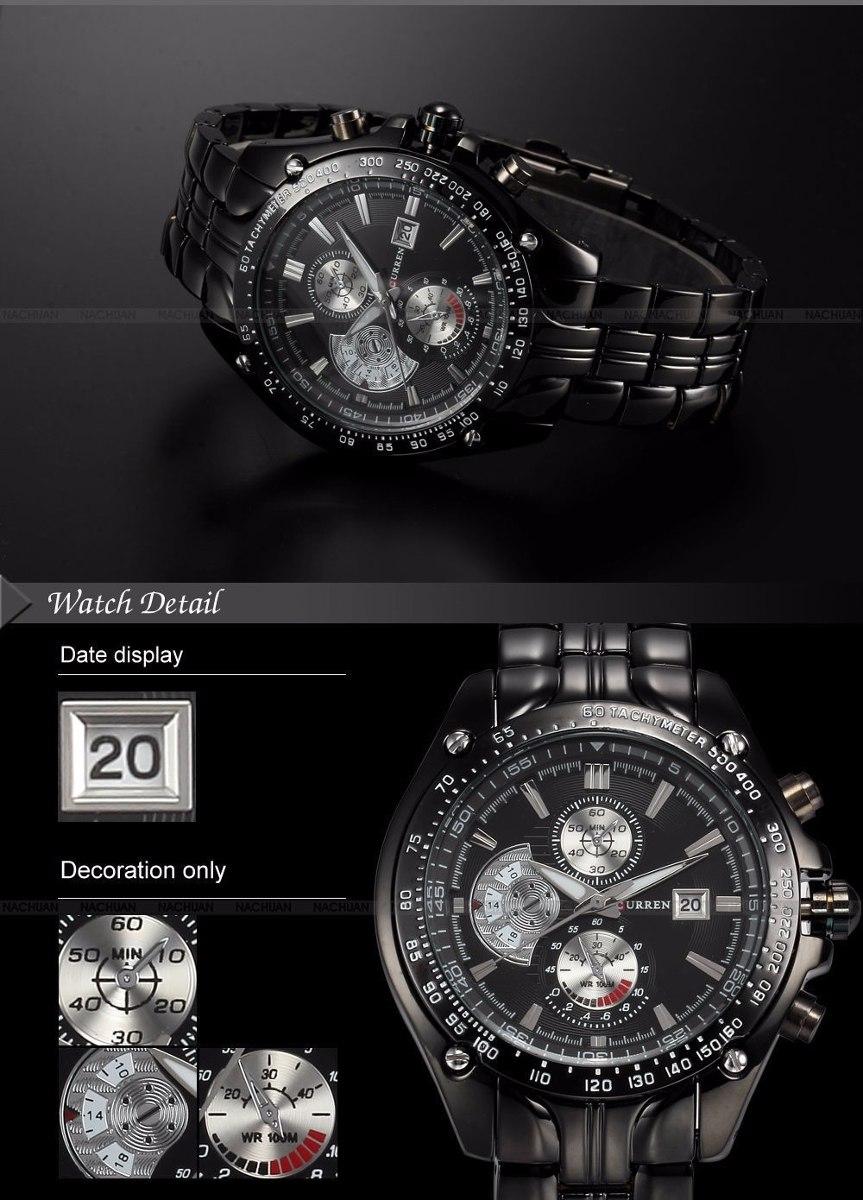 6c880a4e793 relógio curren aço inoxidável militar de moda sport quartz. Carregando zoom.
