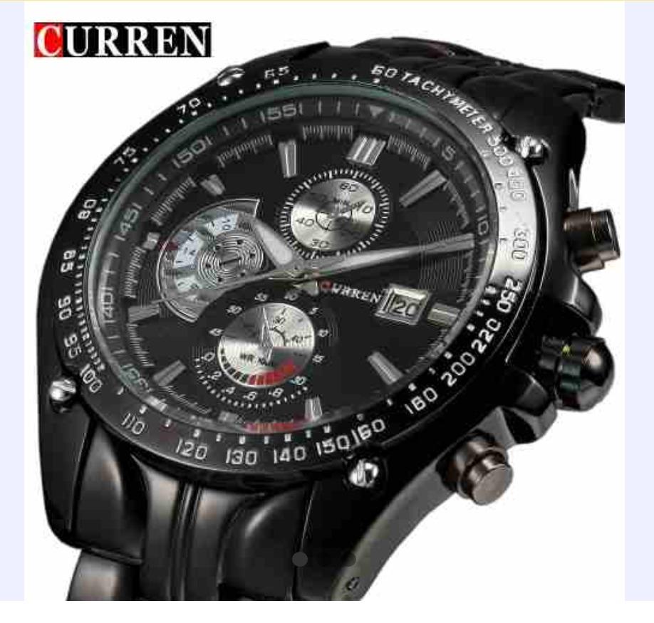 2f318856831 Relógio Curren Em Aço Inox Original Luxo - Lançamento - R  140