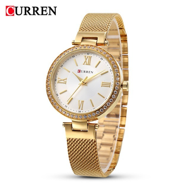 88439d9d927 Relógio Curren Feminino De Luxo 9011 Lindo Frete Grátis - R  159