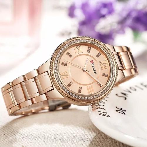 relógio curren feminino lançamento coleção social