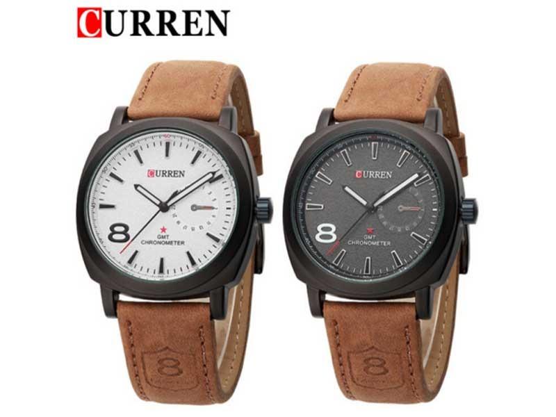 43b1d9f0fa4 relógio curren luxo masculino com pulseira de couro 8139. Carregando zoom.