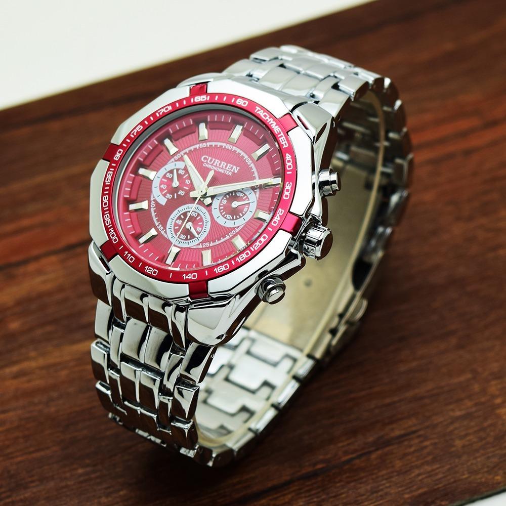 ffdbb37681a relógio curren luxo original aço inox modelo 8023 + brinde. Carregando zoom.