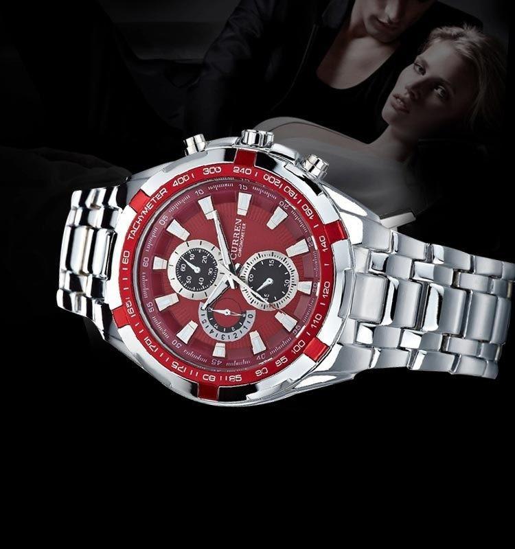 5b6c54ce036 Carregando zoom... curren masculino relógio · relógio barato curren  masculino importado original inox