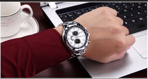relogio curren masculino de luxo pulseira de aço original