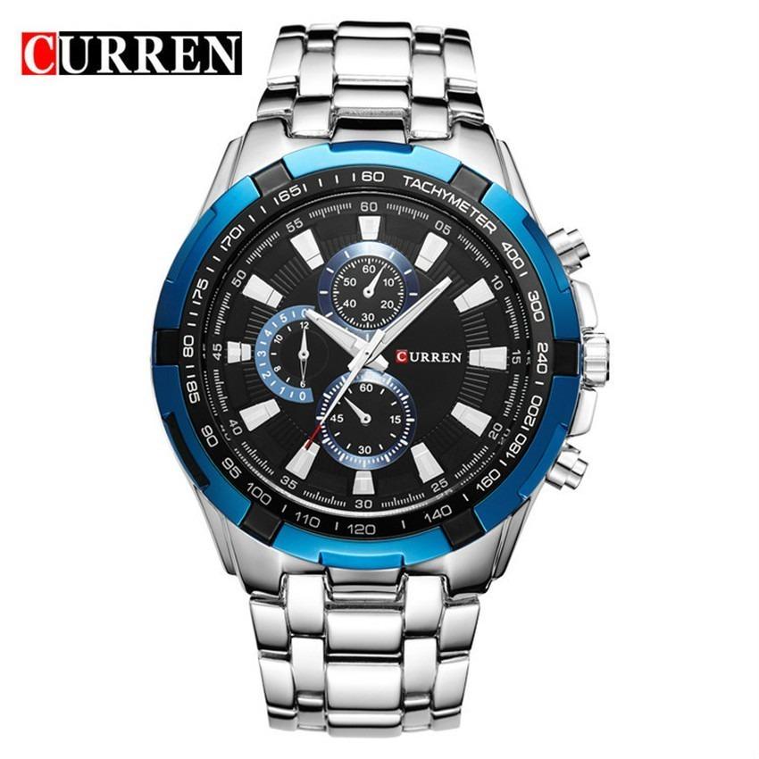 3862a128a65 relógio curren masculino original 8023 social luxo inox. Carregando zoom.