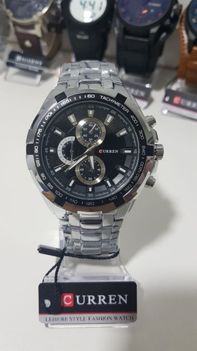 relógio curren masculino original 8023 social luxo inox