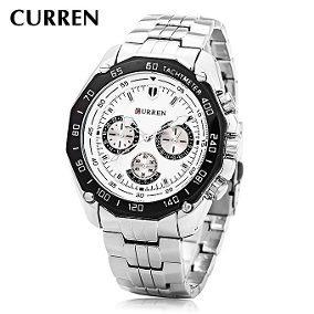 20e294f080549 Relógio Curren Masculino Original Inox 8077 - R  115