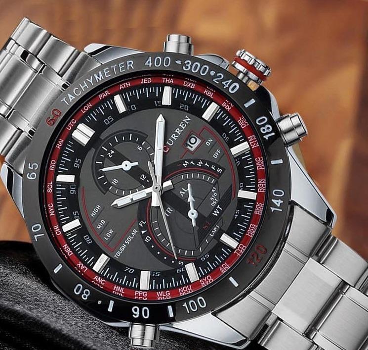 415641b2b78 Relógio Curren Masculino Original Luxo 2018pulseira Aço Inox - R  120