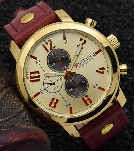relógio curren modelo m8192 vermelho