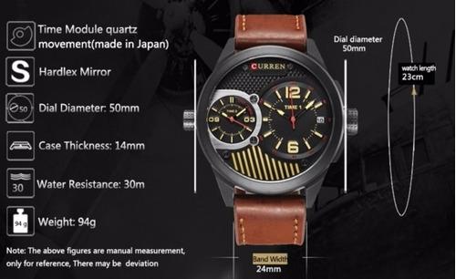 relógio curren modelo m8249 + frete grátis