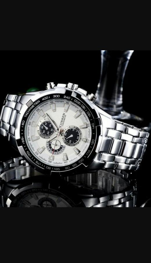 bc51284e9d820 Relógio Curren Original 8023 Masculino Aço Pronta Entrega - R  129 ...