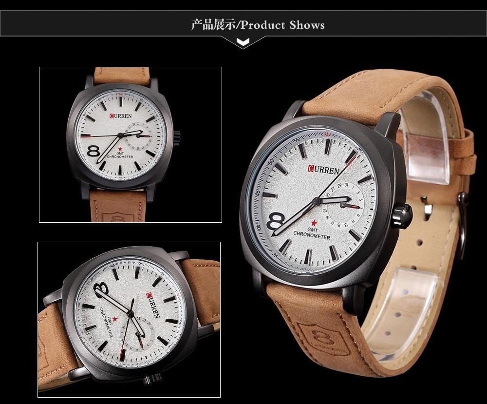 0254ad744de Relógio Curren Pronta Entrega!! Esportivo Militar Luxo - R  59