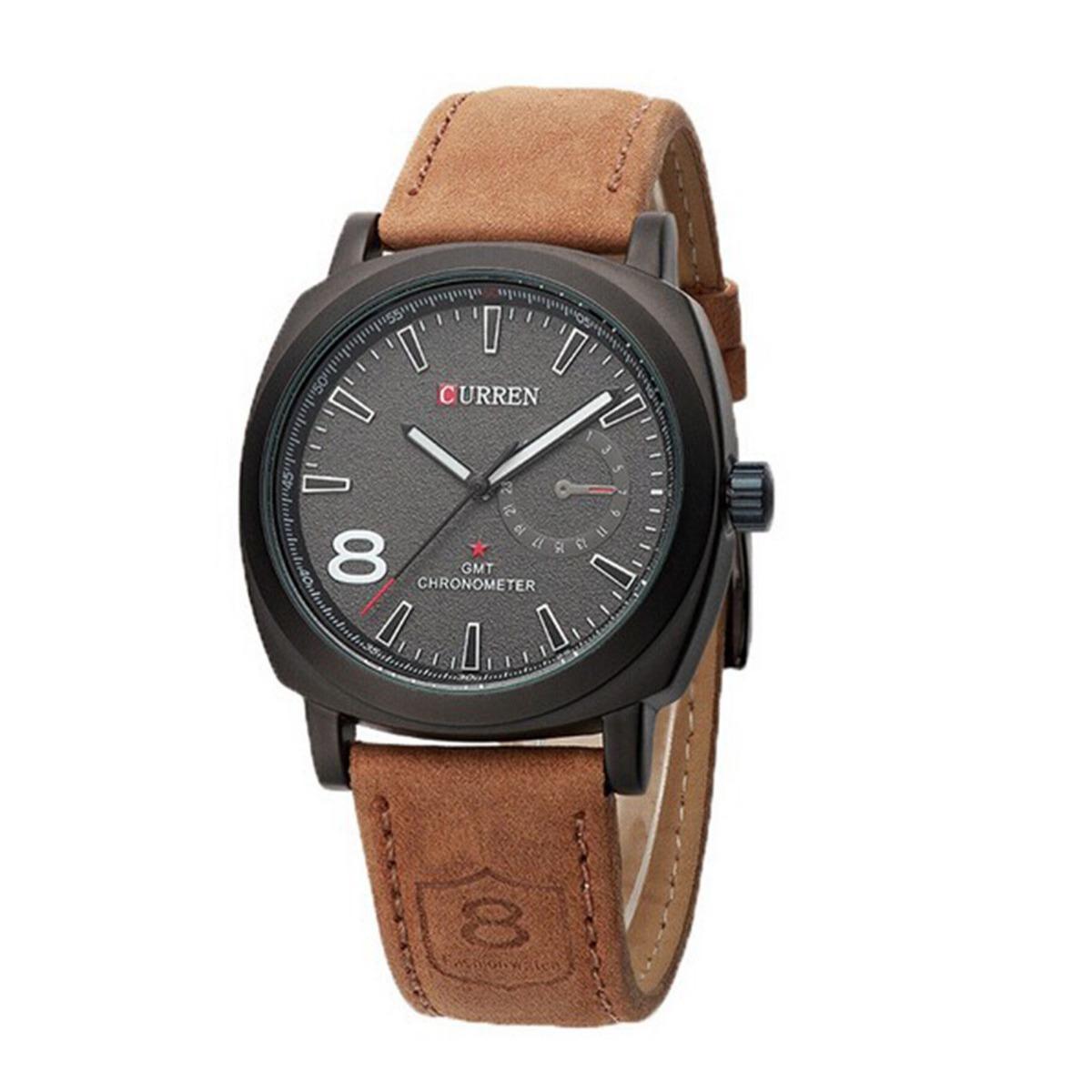139ed29a594 relógio curren pulseira de couro masculino esportivo militar. Carregando  zoom.