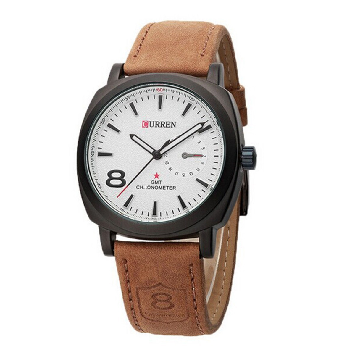 c8bd3c41c19 relógio curren social casual pulseira de couro esportivo. Carregando zoom.
