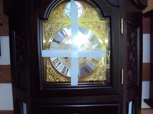 relógio d coluna carrilhão pedestal madeira cuco herweg 5335