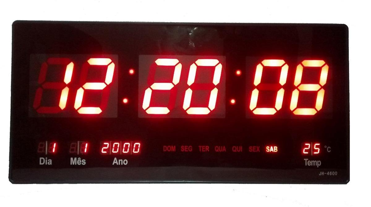 bf955c0d852 Relógio D Parede Digital Painel Led Grande