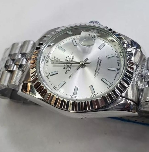 relógio date just 36mm todo em aço varias cores disponíveis