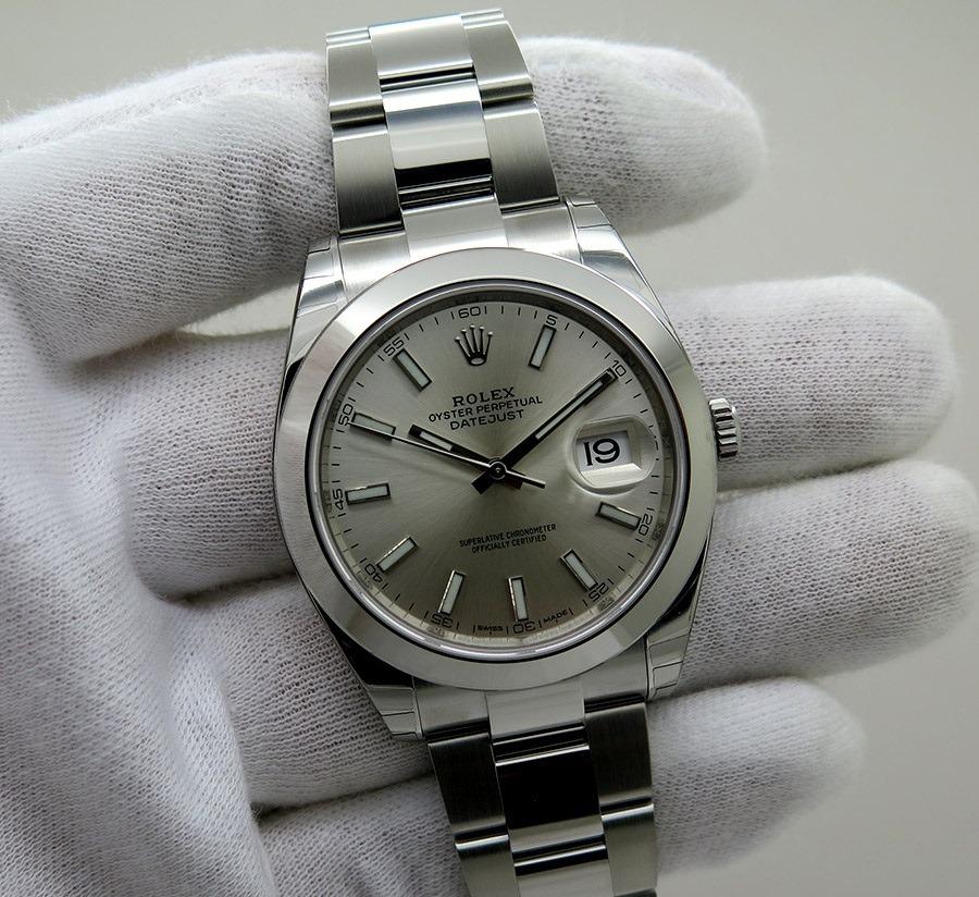 bb82e8bfd7e relógio datejust steel variados + caixa e documentos. Carregando zoom.