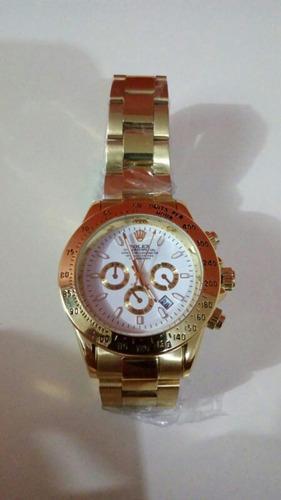 relógio daytona gold 40mm unissex novo