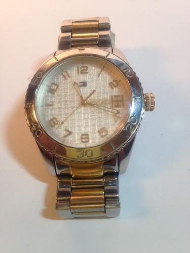 relógio de aço feminino hilfiger tommy usado em bom estado.