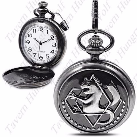 035b3121b0b Relógio De Bolso Alquimista Federal - Full Metal Alchemist - R  40 ...