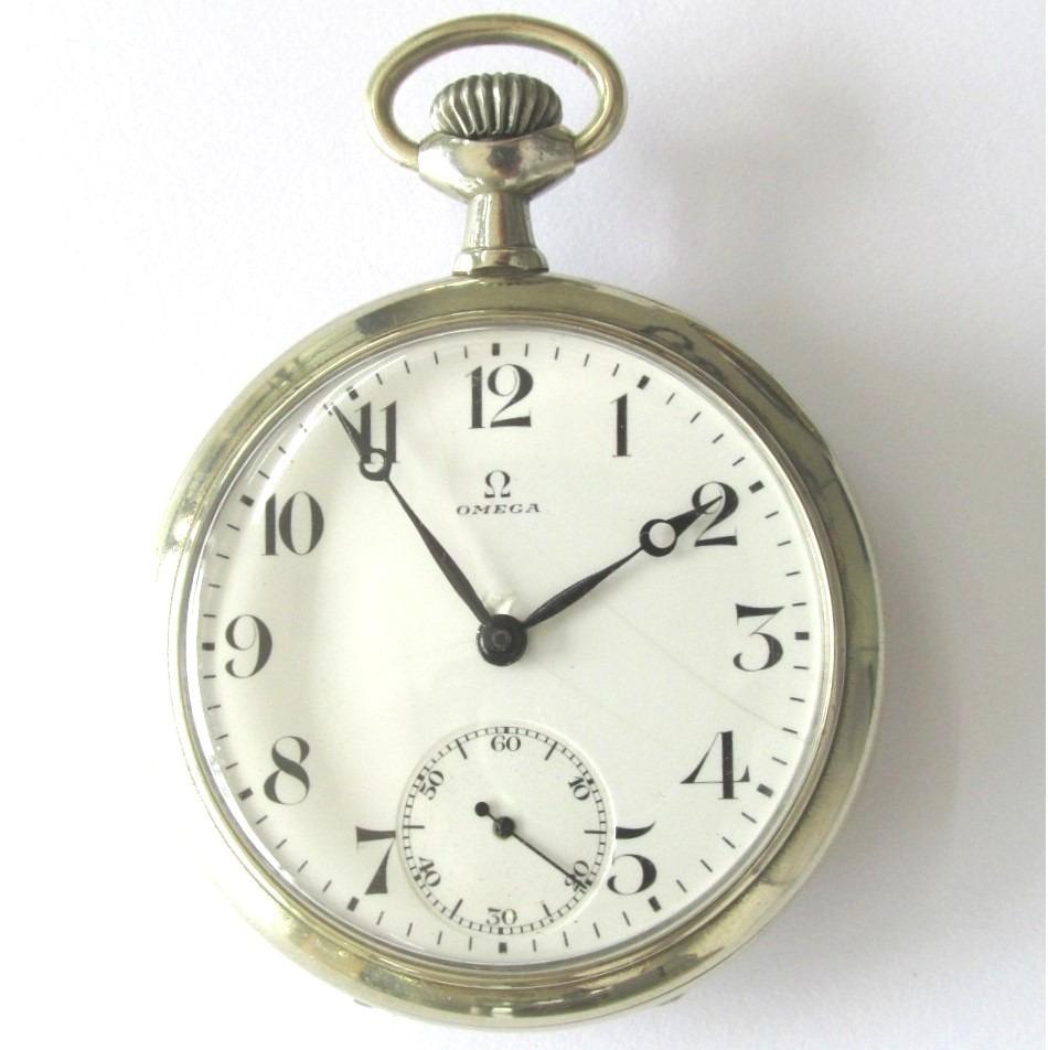 39590660f1d Relógio De Bolso Antigo Omega Ferradura Caixa De Níquel - R  1.450 ...