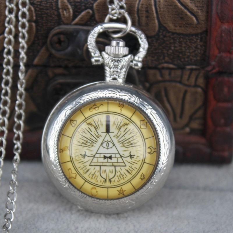 c29f732375c Relógio De Bolso Bill Cipher Gravity Falls 3