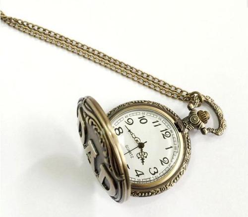 80a17a7ee62 Relógio De Bolso Bronze Retro Vintage Dad Pai + Corrente - R  34