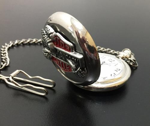 relógio de bolso harley davidson