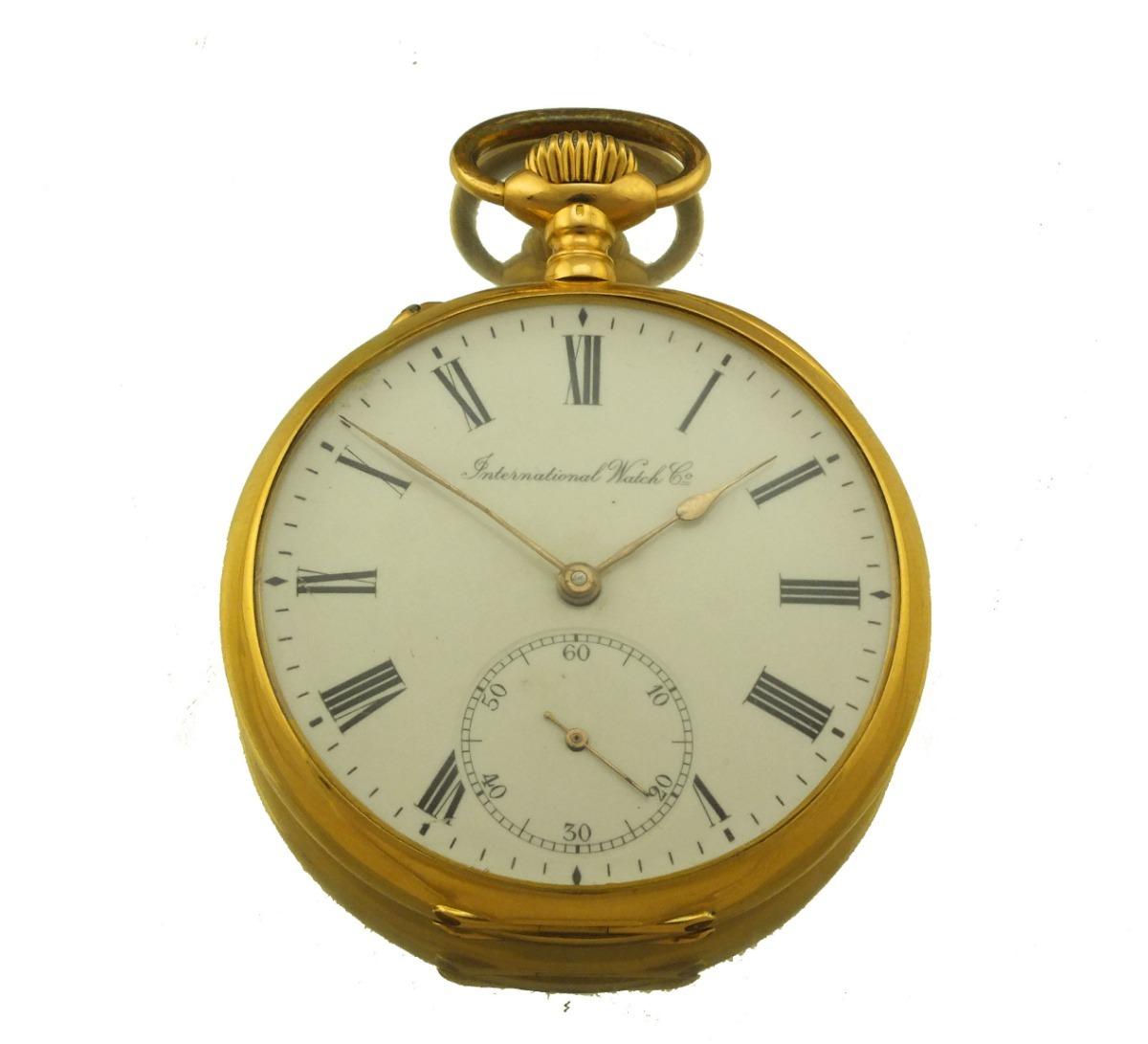 1c56d622f12 relógio de bolso international watch em ouro 18k j17916. Carregando zoom.