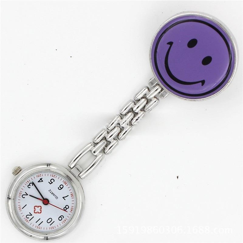 6159a698f50 relógio de bolso lapela jaleco medicina enfermagem roxo. Carregando zoom.