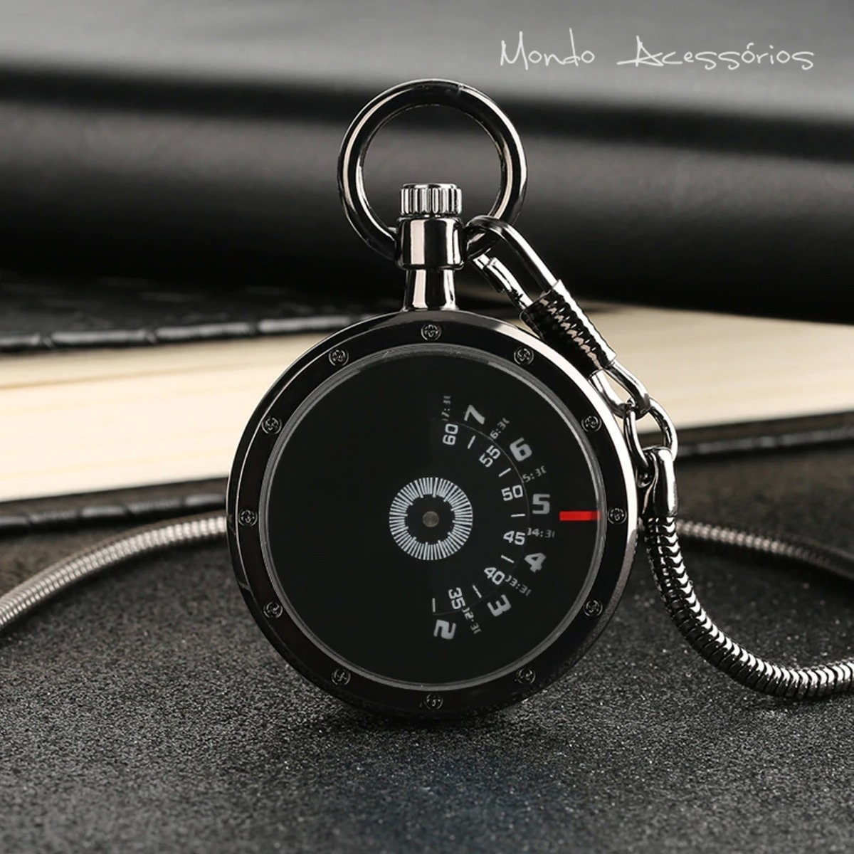 4a0d6c375fe relógio de bolso masculino unissex em aço inoxidável moderno. Carregando  zoom.