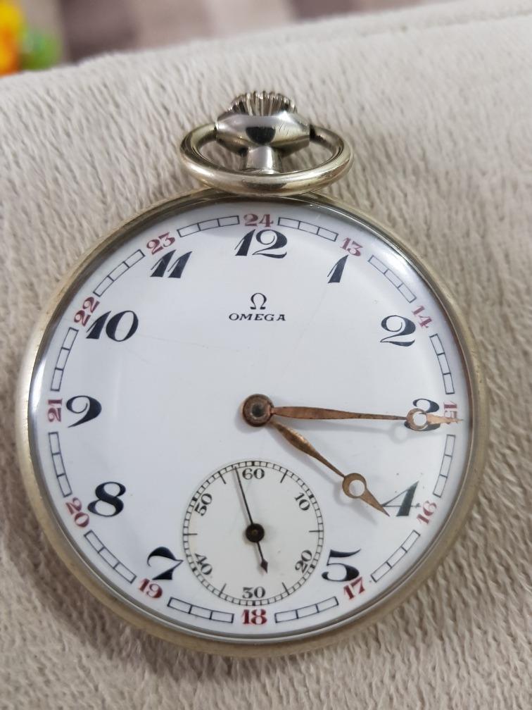341eb1fd8fe relógio de bolso ômega original suíço antigo. Carregando zoom.