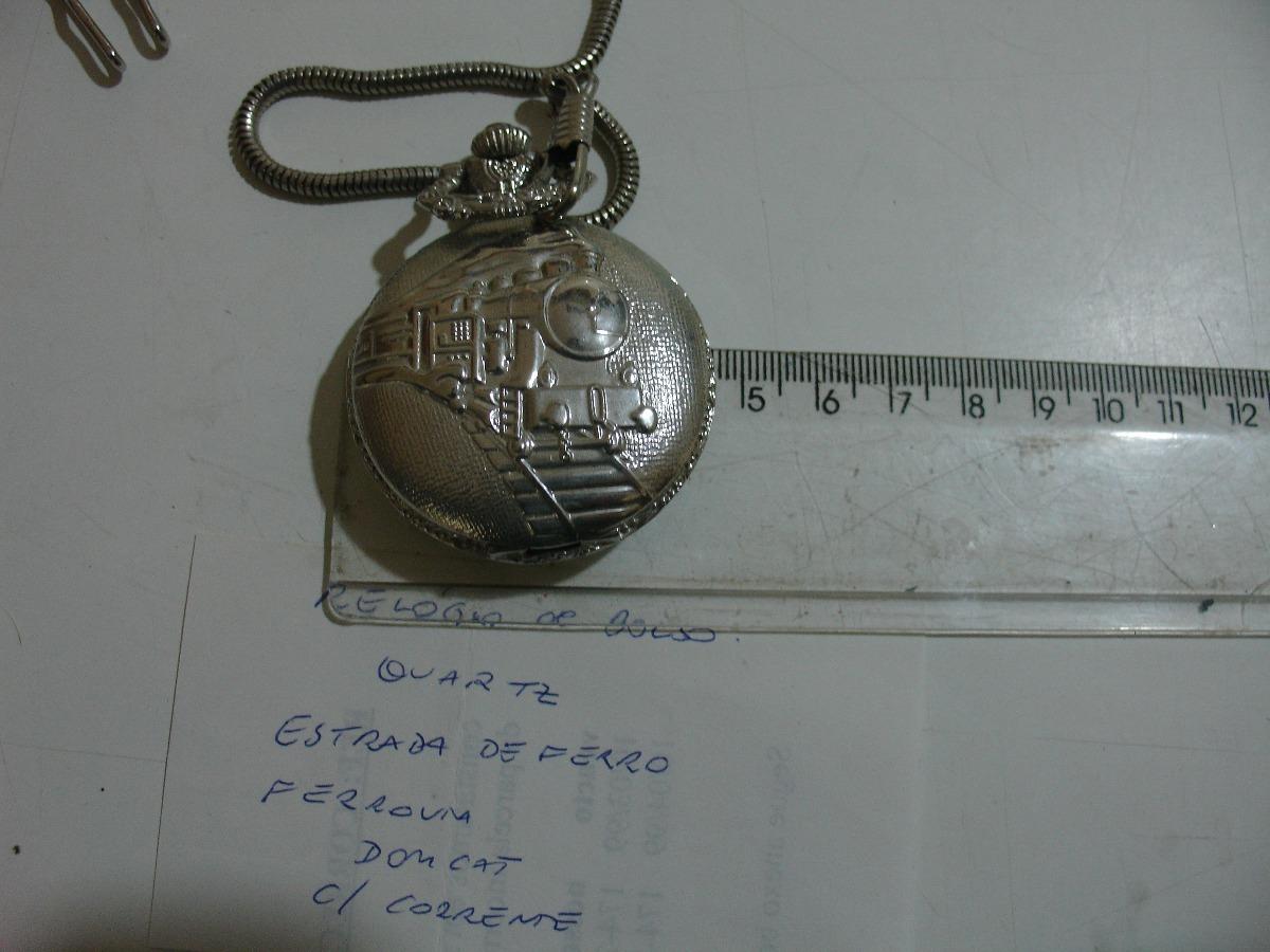 c7e9dd9a2fb6c relógio de bolso quartz ferrovia domcat estrada de ferro. Carregando zoom.