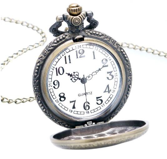 59afbe7b52d Relógio De Bolso Retro Vintage Bronze Ac dc Rock Acdc Hells - R  69 ...