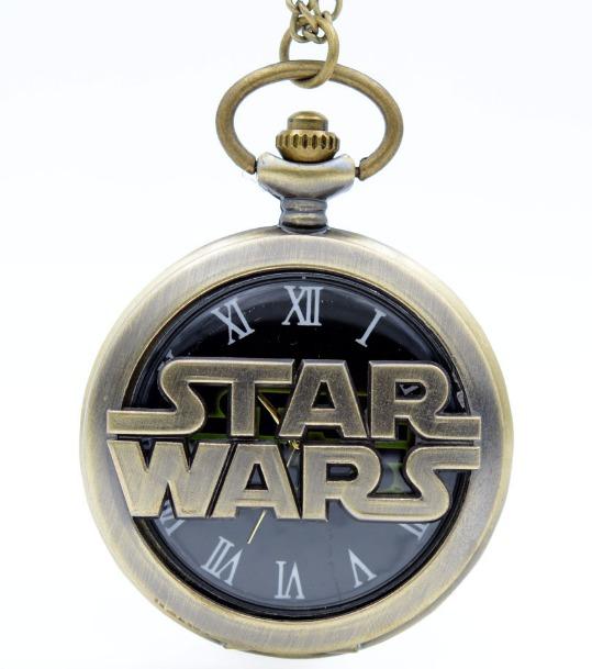 a8e4732b0d2 Relógio De Bolso Retro Vintage Bronze Star Wars + Corrente - R  39 ...