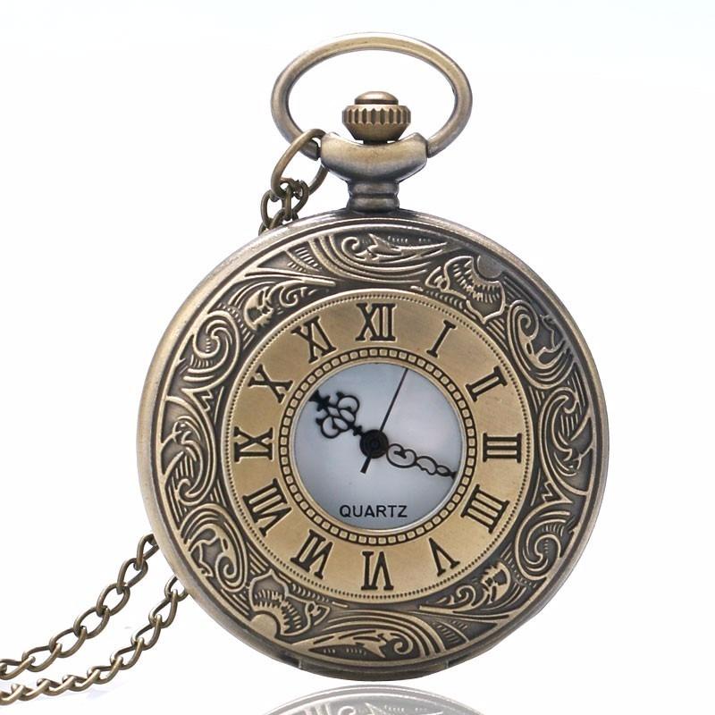 b947b54e550 Relógio De Bolso Roman Vintage - Bronze - R  54