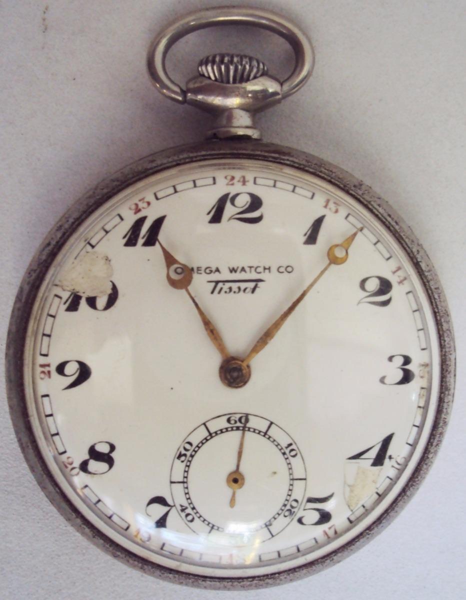 d5ef3cd02b4 relógio de bolso suíço omega tissot com maquinário dourado. Carregando zoom.