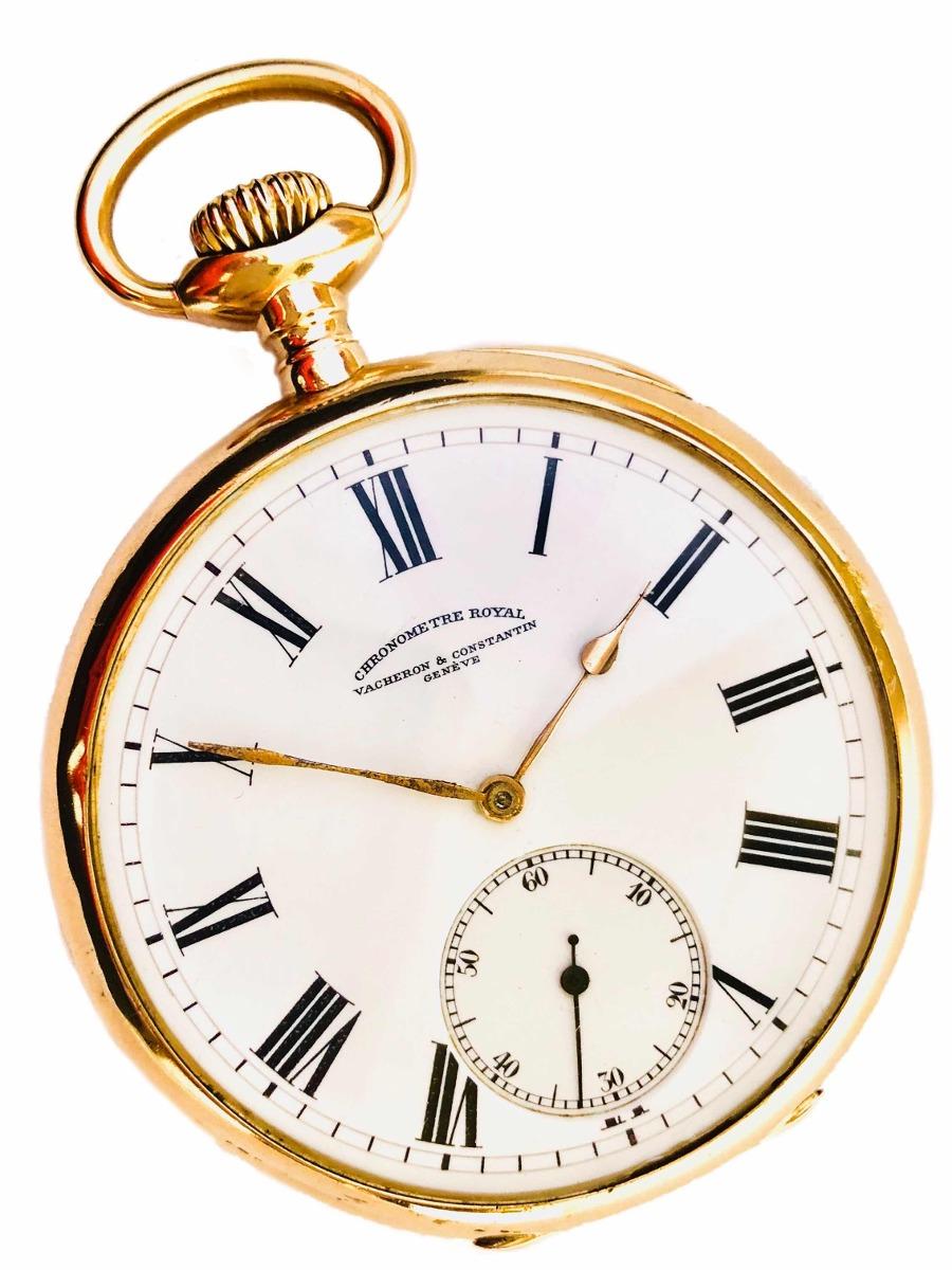 db802a7a2e2 Relógio De Bolso Suíço Vacheron Constantin 22 Linhas Ouro 18 - R ...
