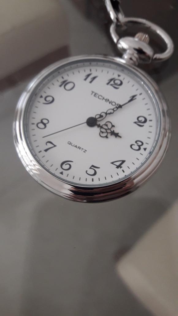 d113bd413b1 relógio de bolso technos quartz nunca foi usado. Carregando zoom.