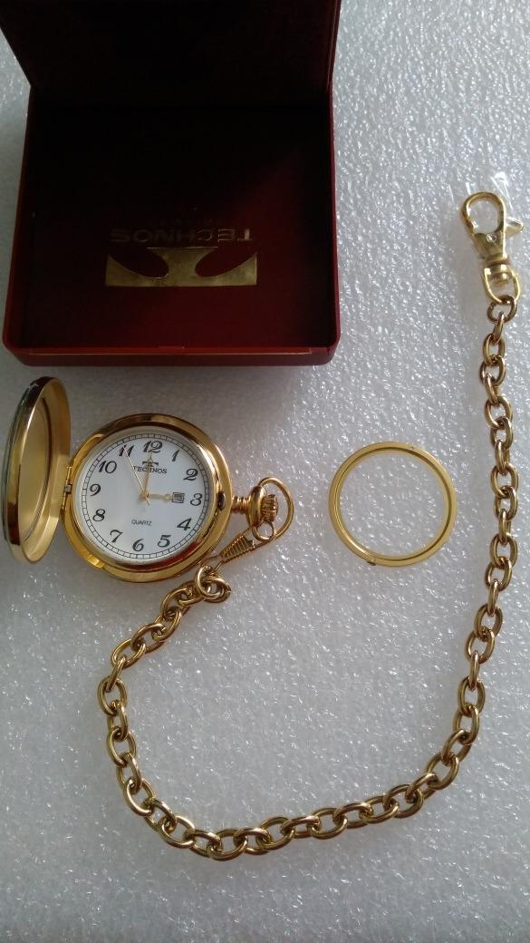 1e63bf09d76 relogio de bolso technos vintage dourado original. Carregando zoom.