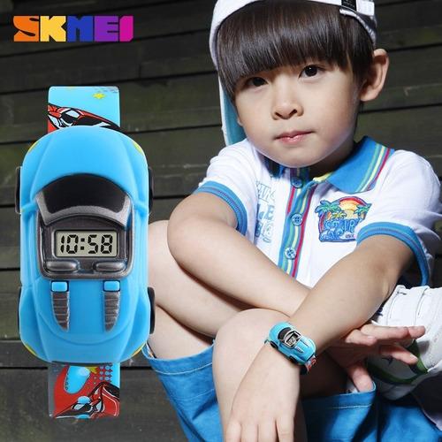 relógio de criança menino menina infantil digital rosa azul